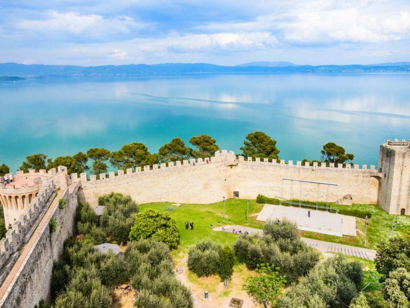 Antica Gabella foto della Rocca di Castiglione del lago